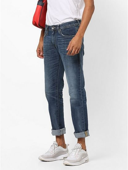 Men's Morris Straight Fit Mid Blue Jeans