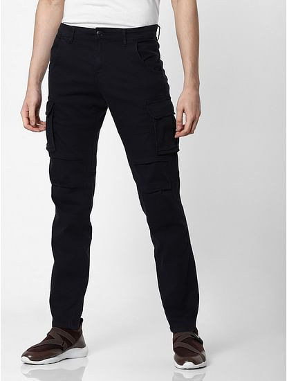 Men's Bob Gym Skinny Fit Blue Cargo Pants