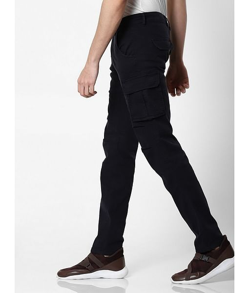 Men's Bob Gym Skinny Fit Blue Cargo Pants