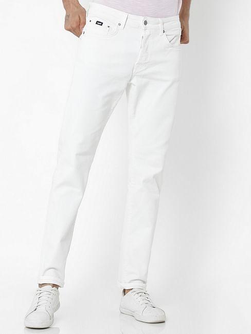 Men's Norton Carrot Fit White Jeans
