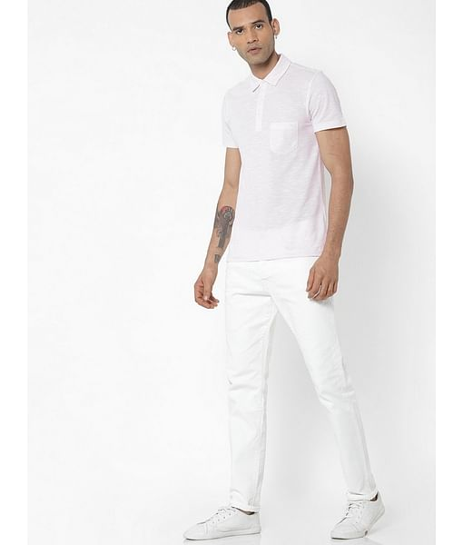 Men's Norton Carrot Fit White Jeans