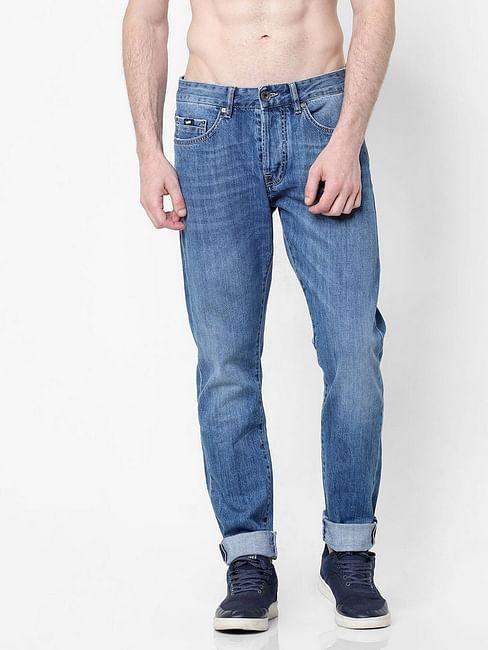 Men's Norton Carrot Fit Mid Blue Jeans