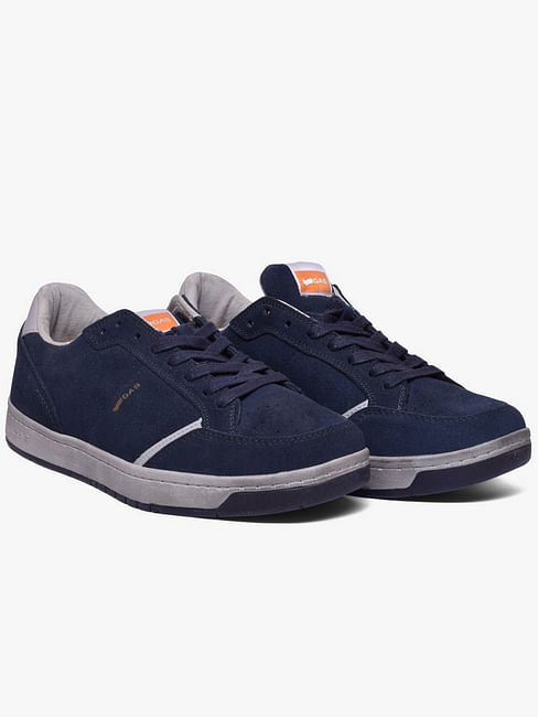Panelled Lace-Up Casual Shoes