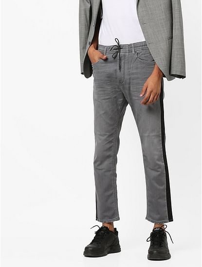 Men's Slow Motion Carrot Fit Grey Jeans