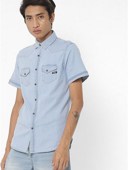 Men's Kant X blue denim chambray shirt