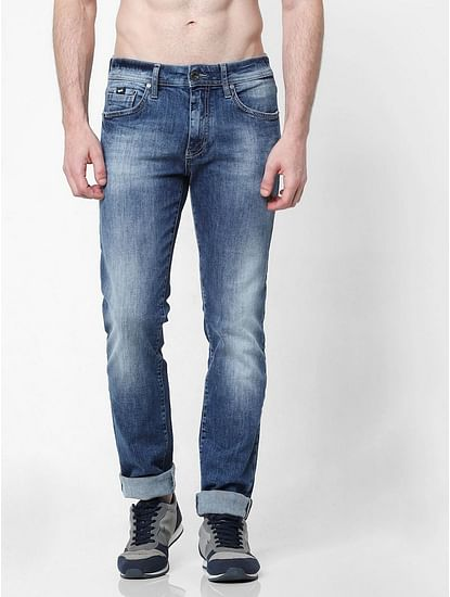 Men's Morris Straight Fit Blue Jeans