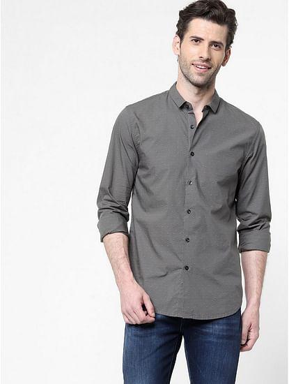 Men's Sir Det all over printed navy blue shirt