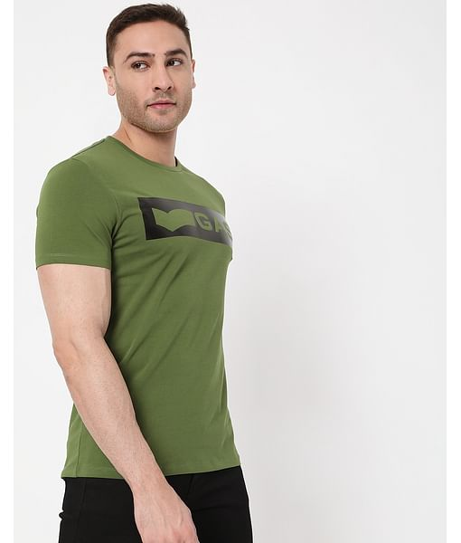 Men's Scuba Logo In Crew Neck T-Shirt