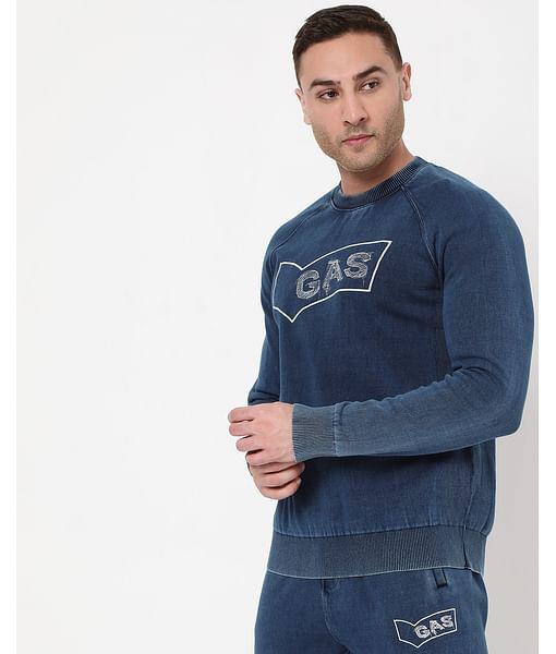 Men's Crew Indigo In Slim Fit Sweatshirt