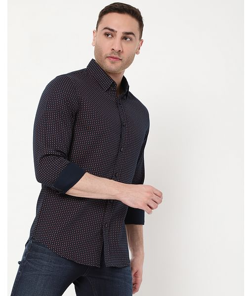 Men's Andrew Mix Print In Slim Fit Shirt