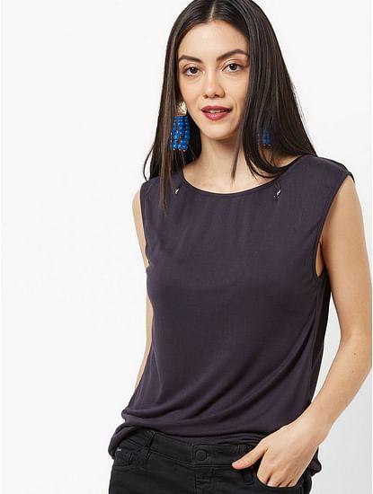 Women's regular fit round neck sleeveless Emira top