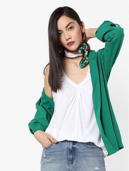 Women's regular fit V-neck sleeveless Belita top