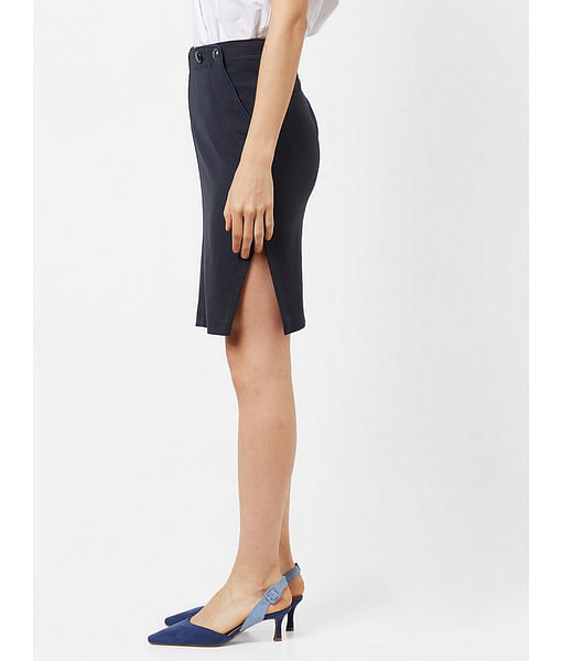 Women's slim fit mid rise Caryes skirt with slit