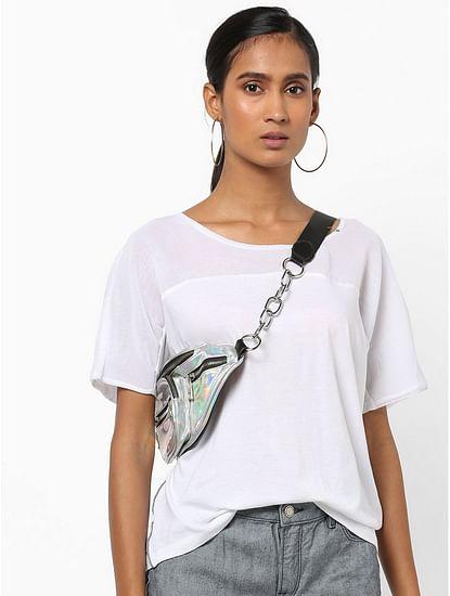 Women's regular fit round neck half sleeves Dylla top