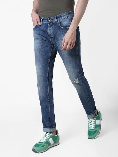 Men's Norton Tailoring Straight Fit Blue Jeans