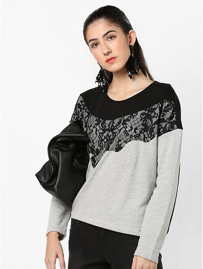 Women's regular fit round neck full sleeves Belkis sweatshirt