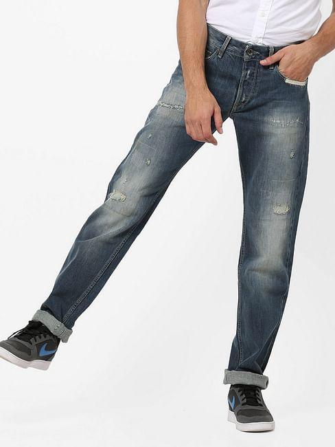 Men's Morrison Selvedge Straight Fit Blue Jeans