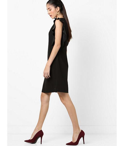Women's round neck sleeveless Roses dress