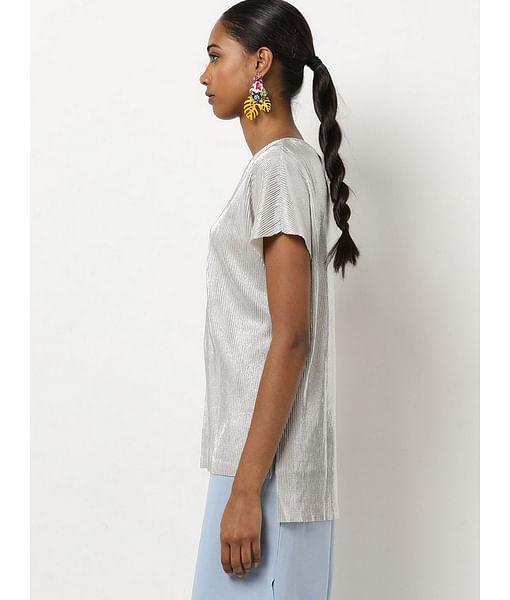 Women's regular fit round neck sleeveless Liber top