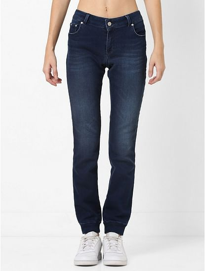 Women's mid wash slim fit Britty up motion jeans