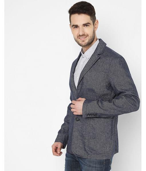 Men's Fancier W. Blue Solid Jackets