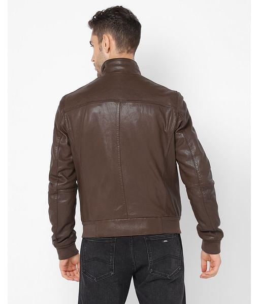 Men's Power Brown Solid Jackets
