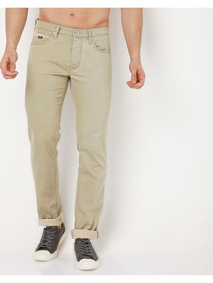 Men's Mitch Straight Fit Green Jeans