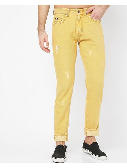 Men's Norton Carrot In Carrot Fit Amber Jeans