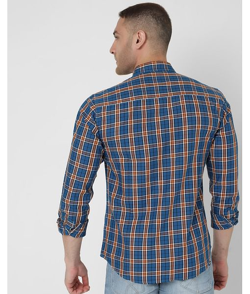 Men's Victor Wf Ec In Slim Fit Checkered shirt