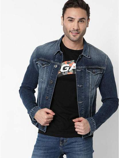 Men's Oklahoma full sleeves denim jacket