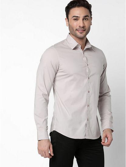 Men's Andrew solid mauve shirt