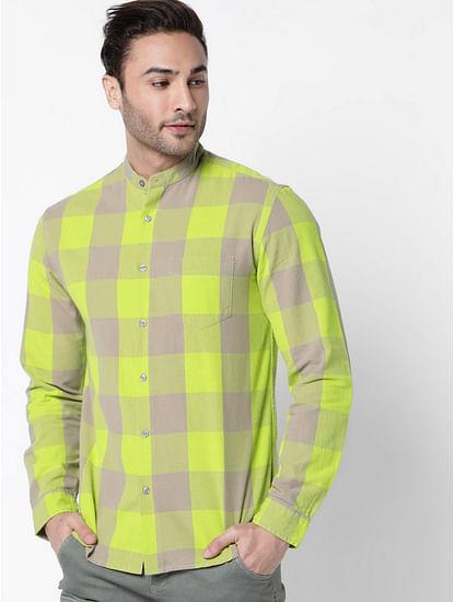 Men's Mohr neon checks full sleeves  shirt