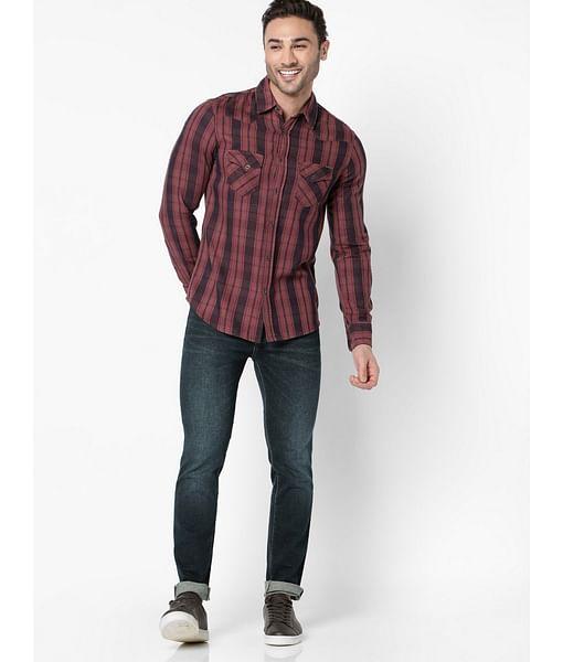 Men's Kant red checks shirt