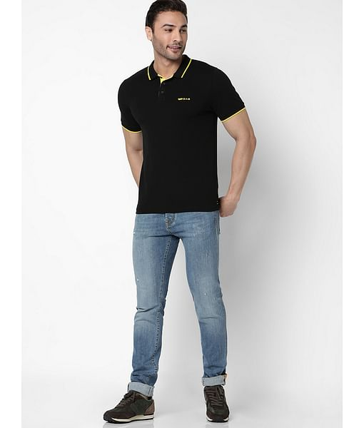 Men's Ralph solid black polo t-shirt
