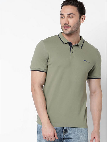 Men's Ralph solid herbal heater polo t-shirt