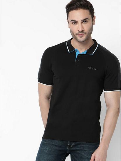 Men's Ralph tape black polo t-shirt