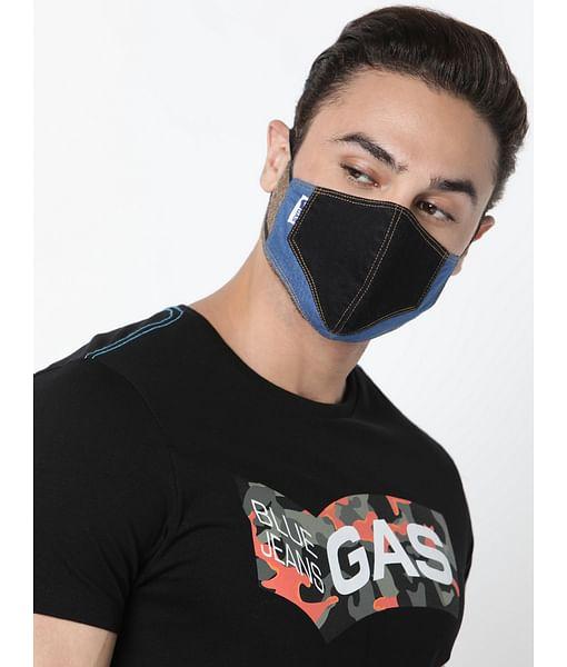 GAS Denim Solid blue Mask
