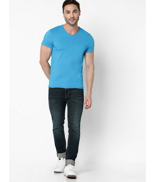 Men's Albert Simple Slim Fit Blue Jeans