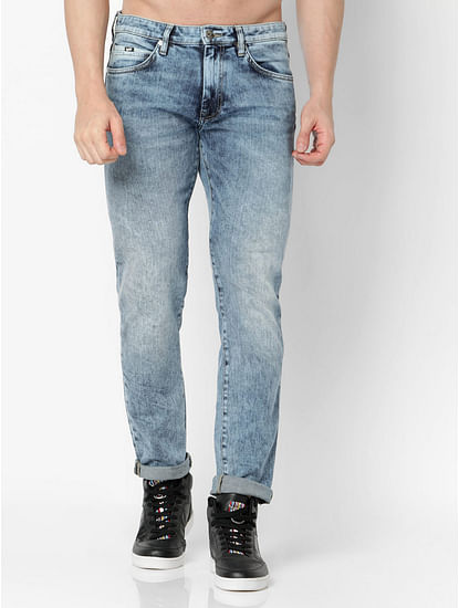 Men's Mitch Straight Fit Blue Jeans