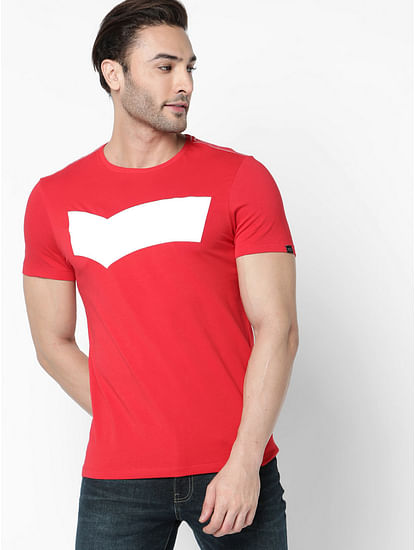 Men's Scuba Logo printed blue t-shirt