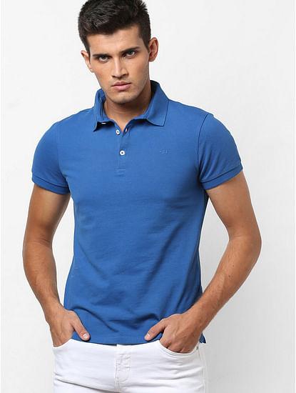 Men's Ralph/s vint solid blue polo t-shirt