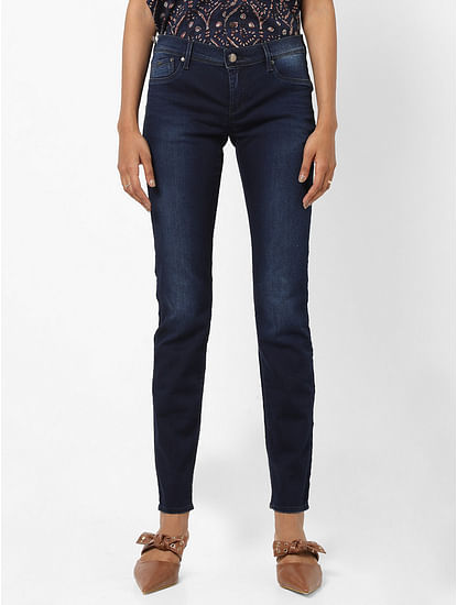 Women's skinny fit mid wash Sumatra jeans