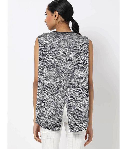 Women's regular fit round neck sleeveless Lorensy top