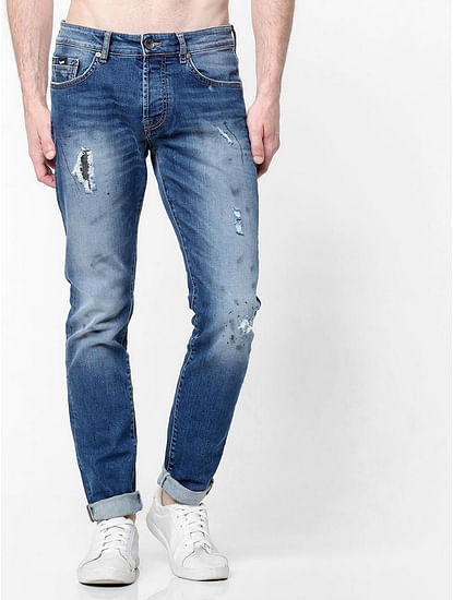 Men's Norton Carrot Fit Mid blue Jeans