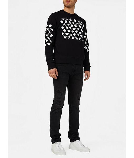 Men's Albert Simple Slim Fit Black Jeans
