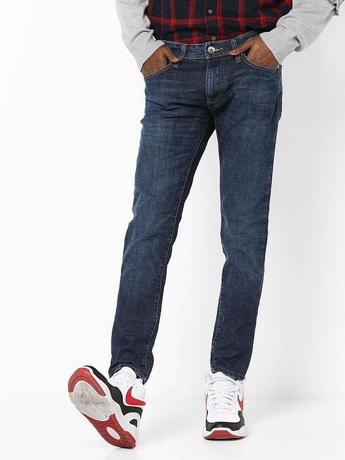 Men's Sax Zip Skinny Fit Blue Jeans