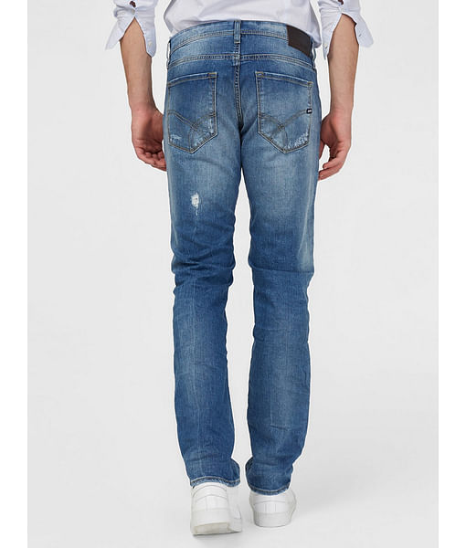 Men's Basic Morris Straight Fit Blue Jeans