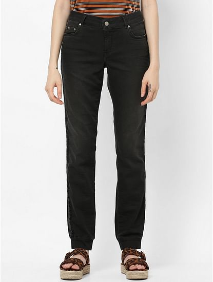 Women's slim fit Britty up shiny jeans