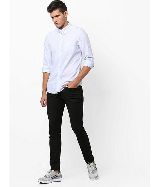 Men's Flix SS jacquard stripes blue shirt