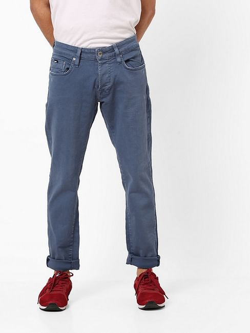Men's Norton Carrot Fit Blue Jeans